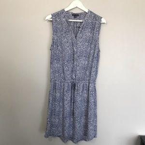 Hilary Radley Blue Leopard Print Dress 💙 Size 10